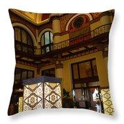 Trainstation Hotel Nashville Throw Pillow