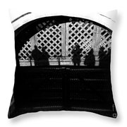 Traitors Gate And Ghostly Images  Throw Pillow