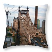 Tram View East Throw Pillow