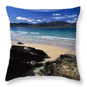 Tramore Strand And Loughros Mor Bay Throw Pillow