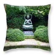 Tranquil Buddha Throw Pillow