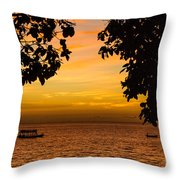 Tranquility Beyond The Trees Throw Pillow