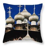 Transfiguration Cathedral On Kizhi Throw Pillow