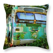 Transit Bus Throw Pillow
