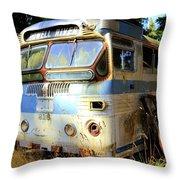 Transit Bus2 Throw Pillow