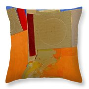 Transition 4 Red Crepe Throw Pillow