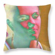 Transparency Personified Throw Pillow