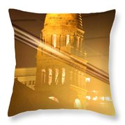 Transposed Tower Throw Pillow