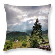 Transylvania Landscape - Romania Throw Pillow