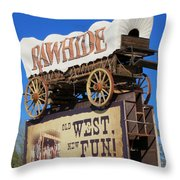 Traveling West Throw Pillow