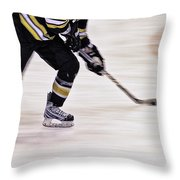 Traveling With The Puck Throw Pillow by Karol Livote
