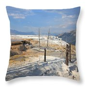 Travertine Limestone Terraces Throw Pillow