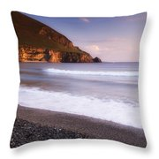 Trawmore Bay, Achill Island, County Throw Pillow