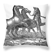 Treading Corn, 1833 Throw Pillow by Granger