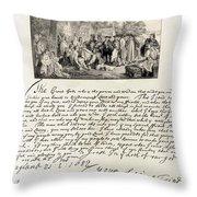 Treaty Between William Penn Throw Pillow