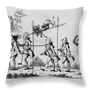 Treaty Of Paris, 1783 Throw Pillow