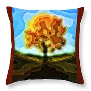 Tree Abstract Throw Pillow