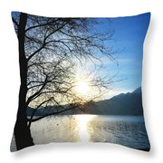 Tree And Lake Throw Pillow