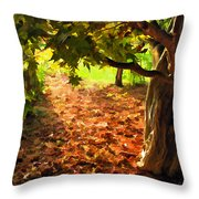 Tree And Shadows Throw Pillow