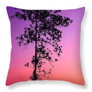 Tree At Twilight Throw Pillow