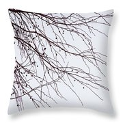Tree Branch Nature Abstract Throw Pillow