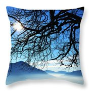Tree Branches And Sun Throw Pillow