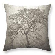 Tree Fog Throw Pillow