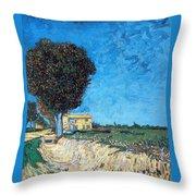 Tree House At A Farm Throw Pillow