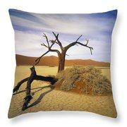 Tree In Desert Throw Pillow