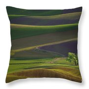 Tree In The Palouse Throw Pillow