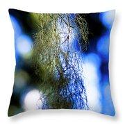 Tree Lichen Throw Pillow