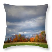 Tree Line On Sunset Hill In New Hampshire Throw Pillow