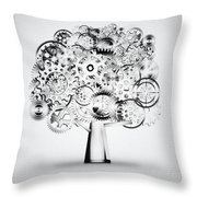 Tree Of Industrial Throw Pillow by Setsiri Silapasuwanchai