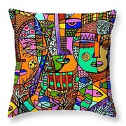 Tree Of Life Tribal Spirts Throw Pillow