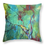 Tree Of Winding Color Throw Pillow