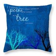 Tree Poem Throw Pillow