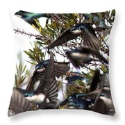 Tree Swallow - All Swallowed Up Throw Pillow