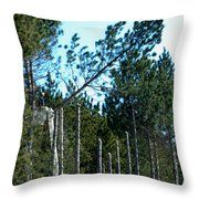 Tree Trimming Throw Pillow