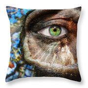 Tree Trunked Throw Pillow