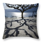 Tree With Shadow Throw Pillow