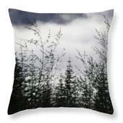 Trees And Clouds Throw Pillow