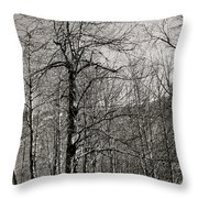 Trees And Hillside Throw Pillow