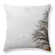 Trees And Pampas Grass Throw Pillow