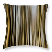 Trees In A Forest Blurred Throw Pillow