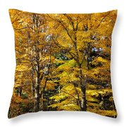 Trees Of Gold Throw Pillow