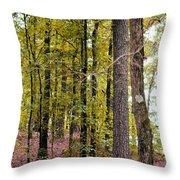 Trees Of Golden Hues Throw Pillow