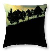 Trees On Ridge Throw Pillow