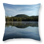 Trees On The Edge Throw Pillow