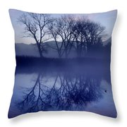 Trees On The Lake Front Throw Pillow