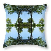 Trees Squared Throw Pillow